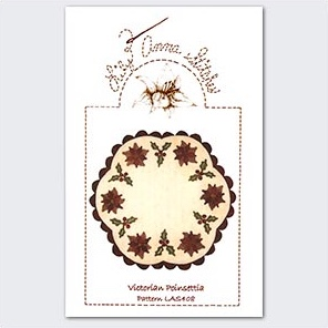 Applique Quilt Wallhanging Pattern Holiday Poinsettia Flowers Vase